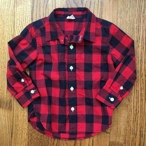 Baby Gap Buffalo Plaid Button Down Shirt